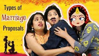 Types of MARRIAGE Proposals ..   #Fun #Sketch #Roleplay #Anaysa #ShrutiArjunAnand