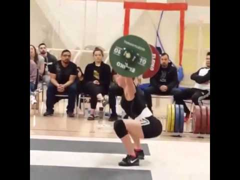 Lacey 92kg Snatch National Record (side angle)