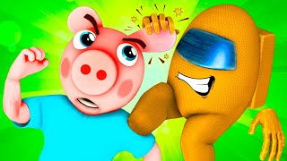 Among Us vs Piggy: Imposter (Roblox Challenge 3D Animation)