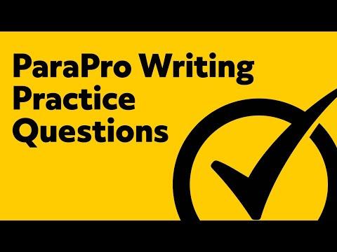 Free ParaPro Writing Practice Test