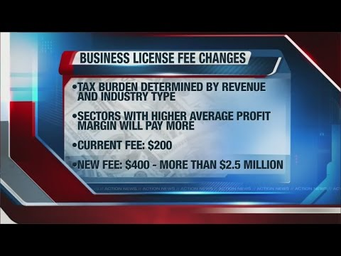 Governor: Business license fee improves on failed tax plans
