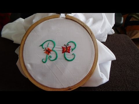 Hand Embroidery: Embroided Letters