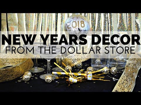 How to Decorate for New Years Eve Using Supplies from the Dollar Store