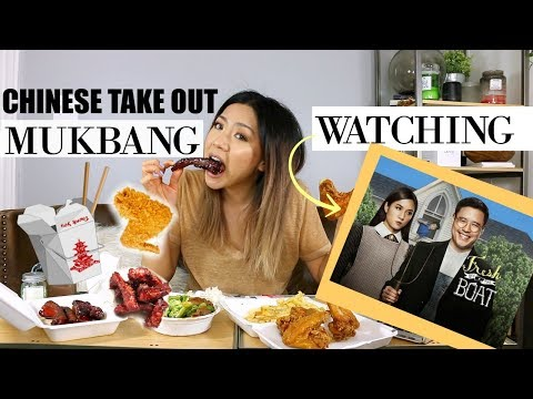Chinese Girl Reacts to Fresh Off The Boat Eating Chinese Takeout Food Mukbang !