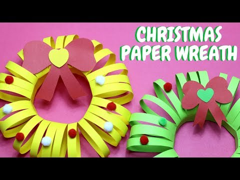 Paper Christmas Wreath | Christmas Ideas | Paper Crafts