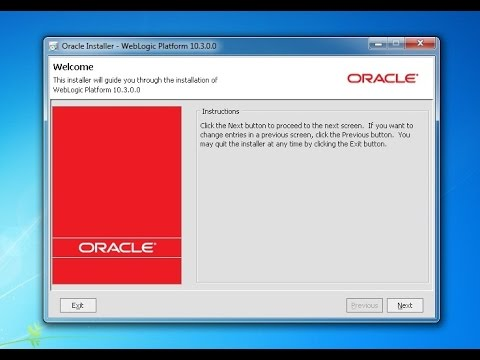 How to Install Oracle WebLogic Server on Win7,Win8,Win Xp