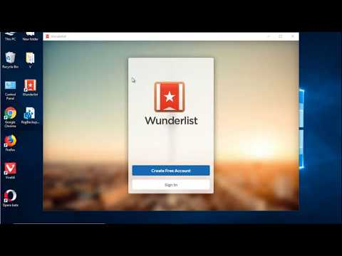 How to uninstall Wunderlist on/for Windows 10?