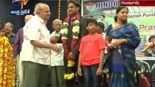 MSK Prasad Felicitated by Hindu College in Guntur