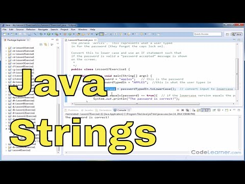 Learn Java - Exercise 17x - Convert Lowercase to Uppercase Characters in a String