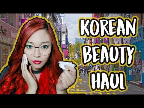 KOREAN BEAUTY HAUL from Myeongdong | Botox Cream, Skin Food, Etude House, Cosrx, The Face Shop, etc