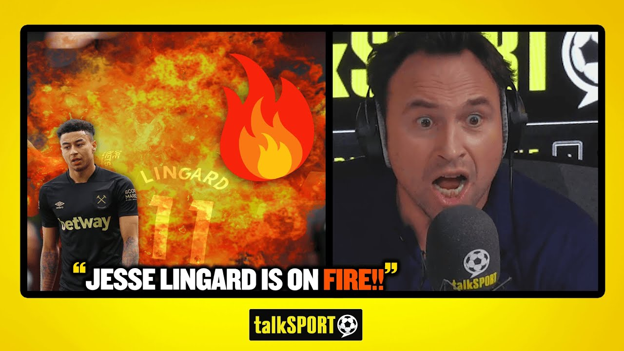 """""""JESSE LINGARD IS ON FIRE!!"""" Jason Cundy & Andy Goldstein praise the form of West Ham star!"""