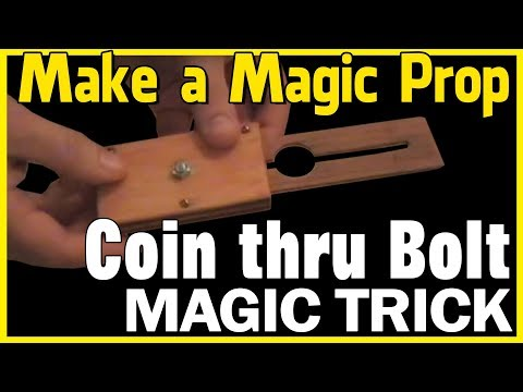 Tenyo Super Spike Coin Through Bolt Magic Trick Revealed - How to Make Close Up Magic Props