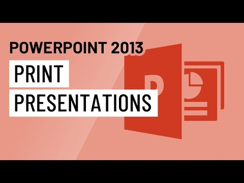 PowerPoint 2013: Printing Presentations