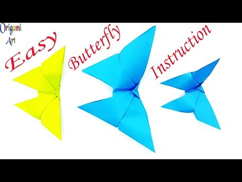 Paper Butterfly Craft | How To Make Paper Butterfly - Origami Butterfly Easy Instructions