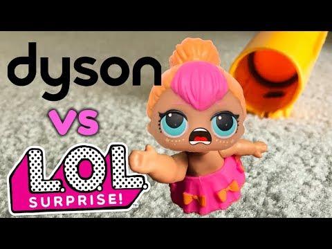Dyson Vacuum vs LOL Surprise Dolls (Sis vs. Sis!)