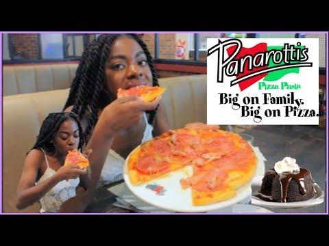 Panarottis LARGE CARNIVORE PIZZA + CHOCOLATE MUDSLIDE MUKBANG! Eating Show (INSIDE RESTAURANT)