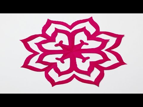 How to make Easy paper cutting Flowers?Simple Paper cutting Design-Paper Craft.