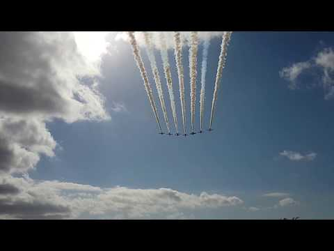 Red Arrows landing at Liverpool