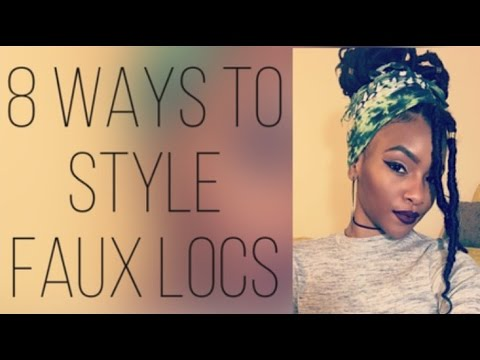 8 Quick & Easy Ways to Style Faux Locs