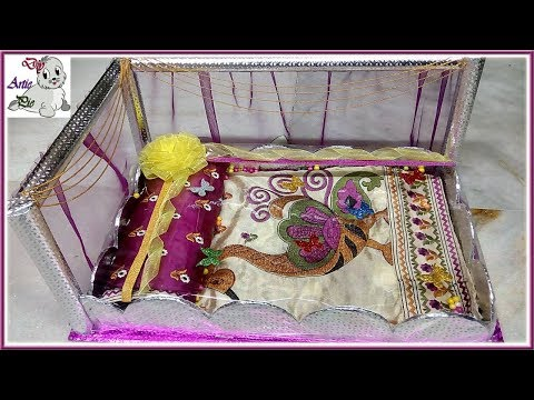 Wedding Tray decoration   Making Marriage Tatta with Cardboard+Pearl+Satine Ribbon    Marriage Tatta