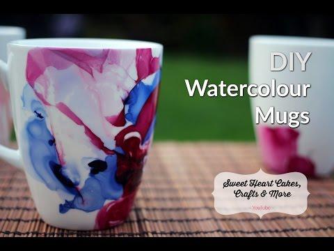 DIY Watercolour Mugs