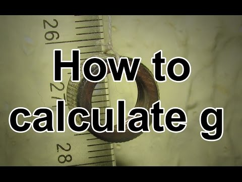 How to Calculate Acceleration due to Gravity