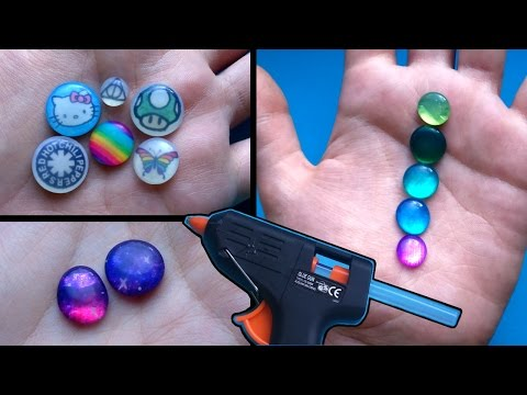 DIY Faux Resin Charms/Gems using Hot Glue