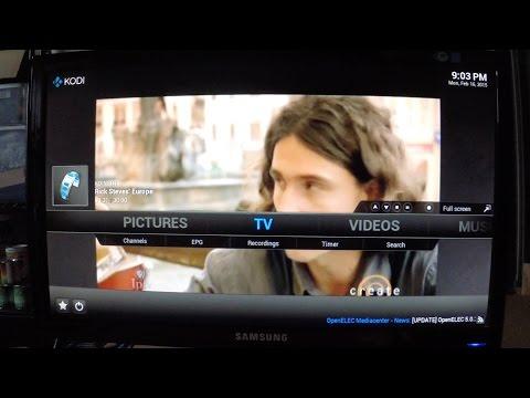 Raspberry Pi 2 Kodi PVR/DVR Client to MythTV Backend