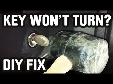 if your Car/Truck Key won't turn, here is a Quick fix -UNCUT