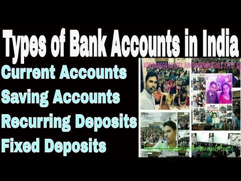 Types of Bank Accounts in India Part 1 भारत में बैंक खातों के प्रकार भाग 1  ENGLISH/हिंदी