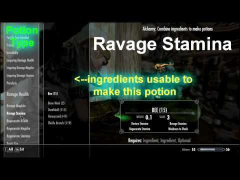 Skyrim Potion Recipes