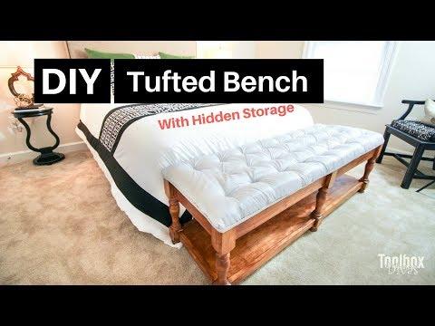 How to Build A DIY Tufted Bench| Home Decor (2018)