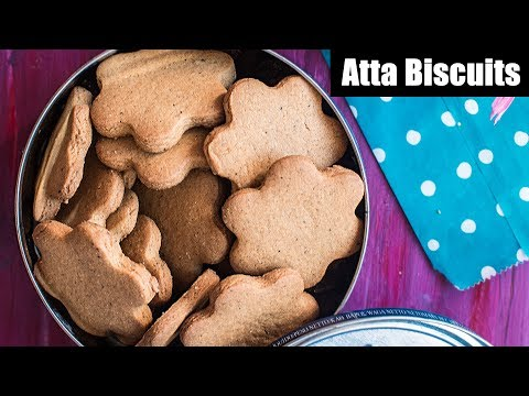 Atta Cookies   Perfect Whole Wheat Sweet Biscuit Recipe   Homemade Elaichi Atta Cookies