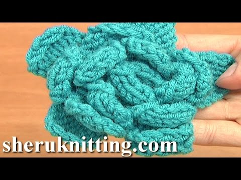 Easy to Knit Rose Flower Tutorial 23 Knitted Flower Patterns