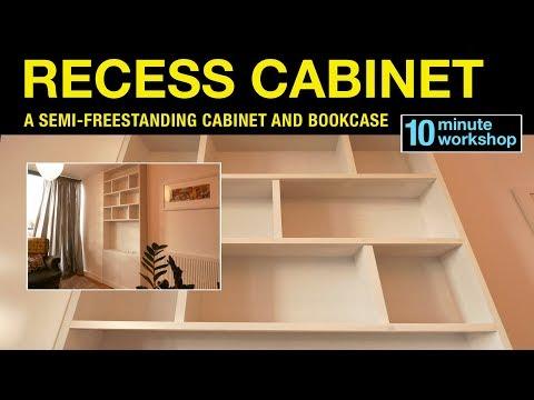 Recess cabinet & shelves #146