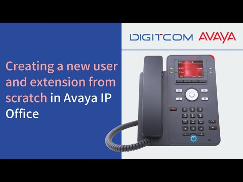 Creating a new user and extension from scratch in Avaya IP Office