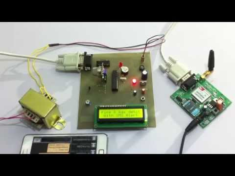 Fire and Gas Detection System With GSM Alert
