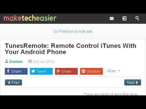 How-To Control Itunes From Android
