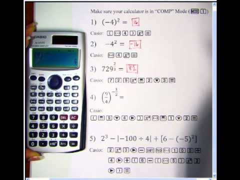 Casio fx-115 ES - Exponents and Absolute Value