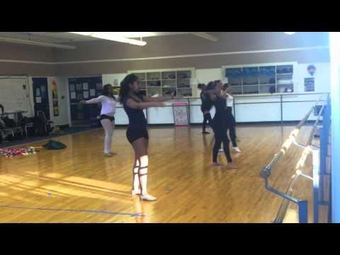 Practicing !!  ( Ferndale High School Dance Team 2012-2013)