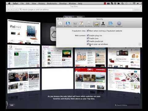 Disable PopUp Blocking - Safari - Mac OS X