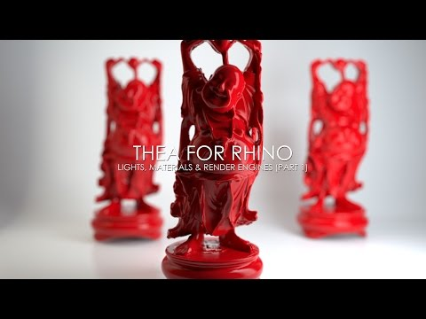 Thea For Rhino: Lights, Materials & Render Engines - Part 1/3