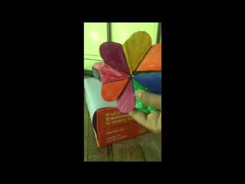 How to make cardboard flowers 💐 dustbin