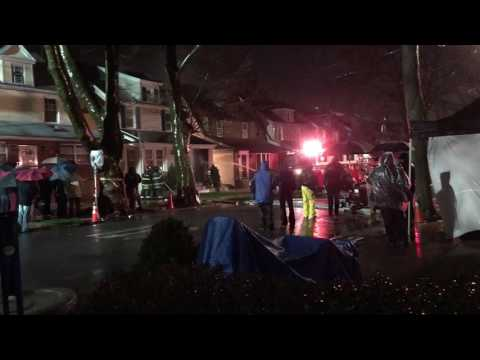 House on fire hosed down - Blue Bloods