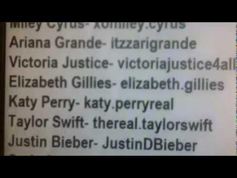 Celebrities REAL Skype names