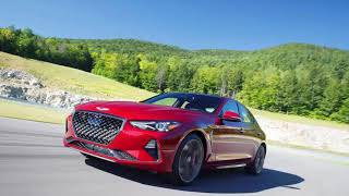 The 2019 Genesis G70 luxury sports sedan includes a powerful high-end dual-turbo V6 model.