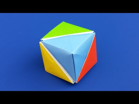 Origami Cube of Pyramids - Easy DIY Tutorial - Modular Origami