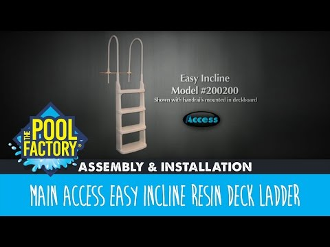 Main Access Easy Incline Resin Deck Ladder - Assembly & Installation