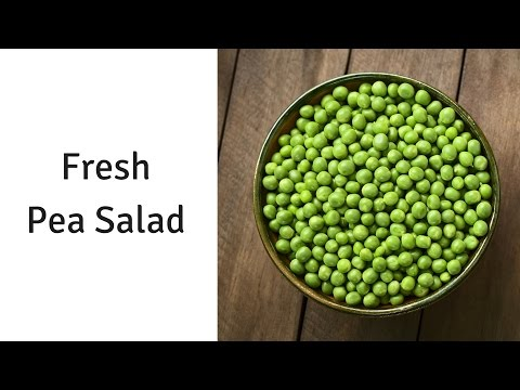 Pea Salad made with Fresh or Frozen Peas