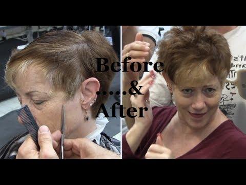 Super short Womens clipper haircut ✂  shear haircut redhead ✂ Womens hairstyles